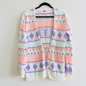 Aztec pastel cardigan
